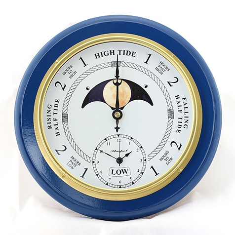 Time & Moon Phase Clock - Blue