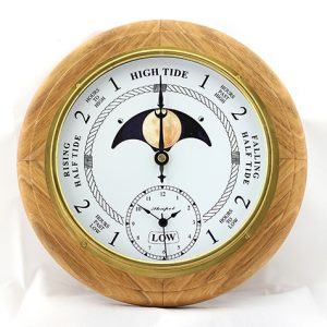 Time & Moon Phase Clock - Natural
